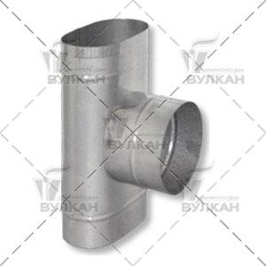 Тройник TOH 90° овальный с патрубком круглого сечения
