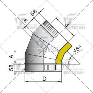 Отвод DOTH 45°