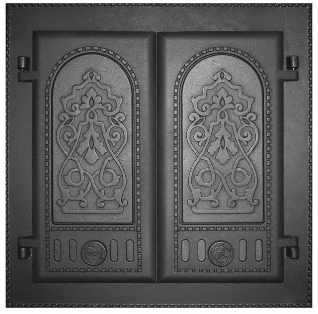 Дверца каминная ДК-6 крашенная двухстворчатая