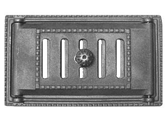 Дверка поддувальная каминная с шибером ДПК