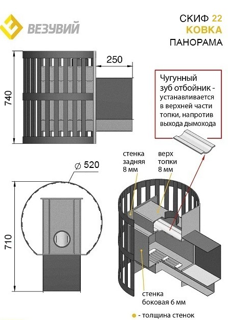 ПЕЧЬ СКИФ КОВКА 22 ПАНОРАМА