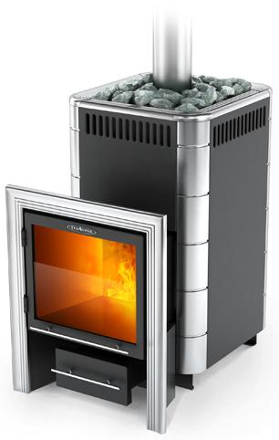 Карасук (Дровяная банная печь среднего класса из конструкционной стали) с глухой дверкой